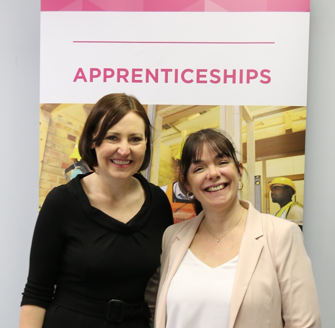 Vicky Foxcroft and Vanessa Packham National Apprenticeship Week 2019